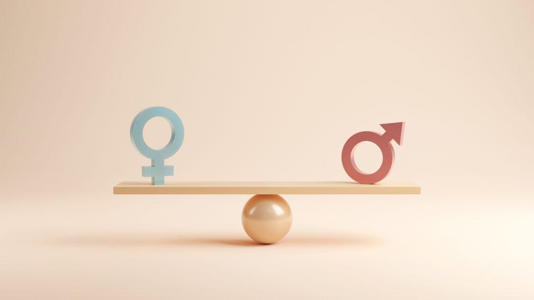 Tecken för man och kvinno på våg